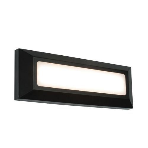 LED Black abs plastic & frosted Polycarbonate Wall Light BX61211-17 by Endon (Double Insulated)
